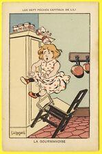 cpa 1900 Carte HUMORISTIQUE Les Sept Péchés Capitaux de LILI G. de KRASSOWSKI