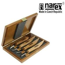 NAREX 869100 PROFESSIONAL 4PC CARVING SET WOOD TOOL WHITTLING CHIP CARVERS knife