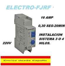 AUTOMATICO TEMPORIZADOR MINUTERO DE ESCALERA 0,30 SEGUNDOS-20 MIN 220V 16A.