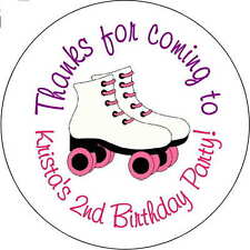 12 Roller Skating Skate Girls stickers Birthday Party 2.5 Inch Personalized loot