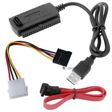 SATA/PATA/IDE to USB 2.0 Adapter Converter Cable for 2.5/3.5 Inch Hard Drive BA