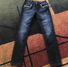 WOMENS MISS ME JEANS MID RISE SKINNY 29 X 30 NEW NWOT