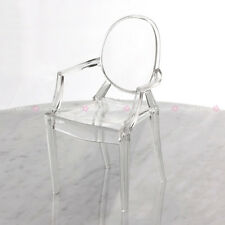 Plastic Arm Chair Furniture Barbie Blythe Transparent Dollhouse Miniature 1:6