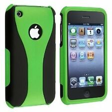 Rubberized Hard Snap-on Cup Shape Case for iPhone 3G / 3GS - Green/Black