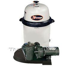 HAYWARD XSTREAM 100 Above Ground Swimming Pool Filter System w/1-HP Pump!