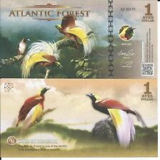 ATLANTIC FOREST BILLETE 1 AVES DOLLAR 2016