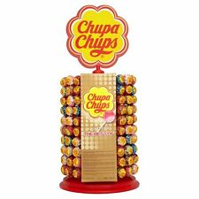 Chupa Chups 200 Lollies avec roue d'affichage STAND assortiment lollipops Kids Candy