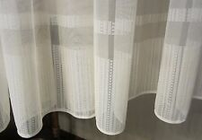 Vintage German Mesh Lace w Border Curtain 96 wide X 60 Inches Long