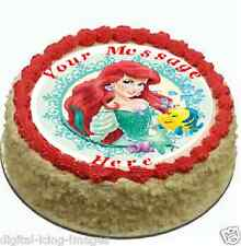 Ariel mermaid Cake topper edible image icing Birthday Party  REAL FONDANT