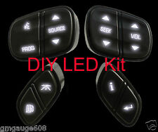 GM Chevrolet Steering Wheel Switch Control Button DIY LED Upgrade Kit,White