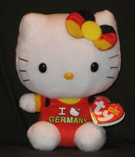 TY HELLO KITTY I LOVE GERMANY BEANIE BABY - MINT w/ MINT TAGS -GERMANY EXCLUSIVE