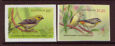 AUSTRALIA 2013 BIRDS PARDALOTES SELF/AD. SET OF 2 UM, MNH