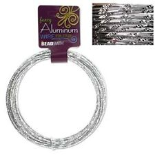 Aluminum Wire Fancy Diamond Cut Silver 12 Gauge 43029 39ft Round Shiny