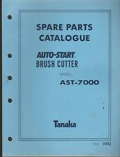 1988 & EARLIER TANAKA AUTO-START BRUSH CUTTER MODEL AST-7000 PARTS MANUAL