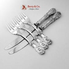 Quirinale Fish Forks Knives Set Sterling Silver Steel 5 Pieces Cesa 1882 1950