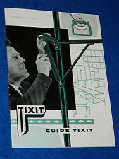 vintage CATALOGUE GUIDE usine TIXIT outils ETAGERE rayonnage ancien MOBILIER