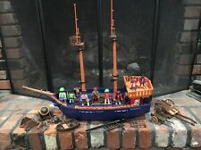 PLAYMOBIL VINTAGE  Large Wheeled PIRATE SHIP Incomplete 5778 Lots of Parts