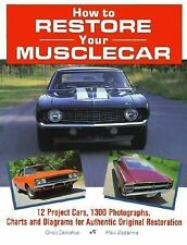 How To Restore Your Musclecar Muscle Car Book 1990 Donahue Zazarine