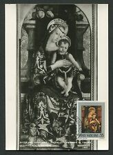 VATICAN MK 1971 GEMÄLDE MADONNA JESUS ART MAXIMUMKARTE MAXIMUM CARD MC CM c9252