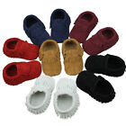 Hot Baby Tassel Soft Sole True Nubuck Leather Shoes Toddler Moccasin 0-24 Months