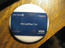 United Airlines UAL UA Mileage Plus Club Visa Card Advertisement Pocket Mirror