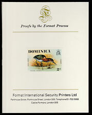 Dominica (403) 1978 Green Heron 2c imperf on Format International PROOF  CARD