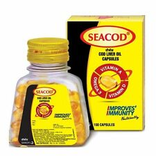 1 PACK OF SEACOD COD LIVER OIL CAPSULE WITH VITAMIN A,D & OMEGA 3- FREE SHIPPING