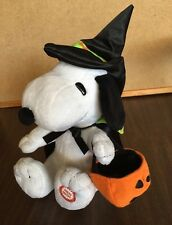 SNOOPY HALLOWEEN MUSICAL ANIMATED PLUSH in WITCH COSTUME PEANUTS 2009