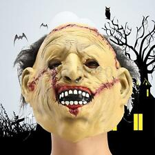 Horror Latex Leatherface Chainsaw Scar Mask with Hair Mask Costume Toy Decor