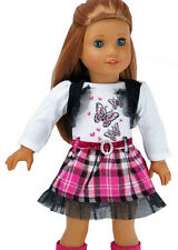 """Adorable Hot Pink Butterfly Dress for 18"""" American Girl Doll Clothes"""