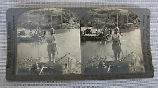 V18860 Keystone Stereoview Of WWI 'Bridge Over The Aisne Destroyed By Germans'