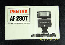 Pentax AF 280T die Bedienungsanleitung/ instruction manual englisch 02358