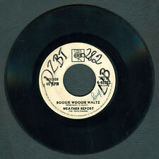Philippines WEATHER REPORT Boogie Woogie Waltz 45 rpm PROMO Record