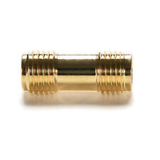 Hot 2x Gold Plating Adapter SMA Female to SMA Female Jack RF Connector Straight