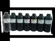 7x500ml  Led soft UV Curable ink for Konica 512 Print head (Y M C K LC LM W )