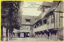 cpa PONT l'ÉVÊQUE (Calvados) Ancien COUVENT CAFÉ RESTAURANT de l'ILE G. MANCEL