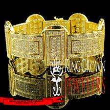 14k Gold Finish High Quality Bracelet Rapper Style Golden Big Look Swag Bling