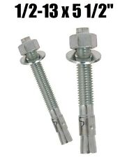 "(Qty 100) 1/2-13 x 5-1/2"" Concrete Wedge Anchor Zinc Plated"