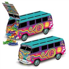 *GROOVY 60's Peace Sign VW HIPPIE LOVE BUS CENTERPIECE*Decoration*Can be filled