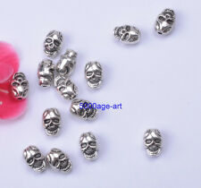 Wholesale 20pcs Tibetan silver Charm Skull Spacer Beads A740