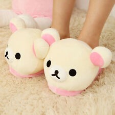 Womens Soft Cute Rilakkuma Bear Big Head Indoor Slippers Non Slip Home Sheos