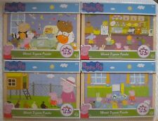 4 Peppa Pig Wood Wooden puzzles 12 pieces each Jigsaw Puzzle Complete set Pepper