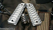 "1911 .45acp PREDATOR COMMANDER Muzzle Brake and ""Cobra"" Grips COMBO COMPENSATOR"