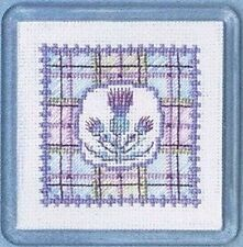 Tartan Thistles Coaster Counted Cross Stitch Kit By Textile Heritage COTT