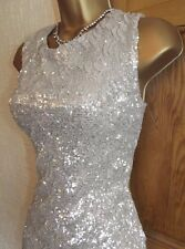 Gorgeous ❤️Jane Norman Gold Sequin Mini Wiggle Evening Party dress size 8 10