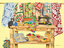 The Quilt Table 500 Piece Jigsaw Puzzle by SunsOut