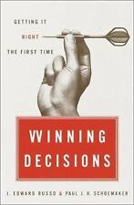 Winning Decisions : Getting It Right the First Time by Paul J. H. Schoemaker...