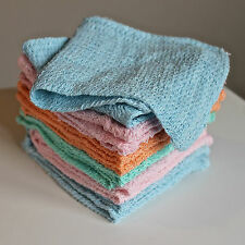 Pack of 12 Natural Cotton Face Flannels Bath Wash Cloth Cloths Towels Bargain