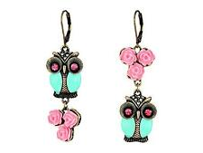 New Betsey Johnson Women's Pet Shop Vintage Owl Non-Matching Earrings CUTE!