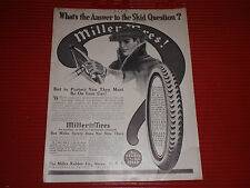 """ANTIQUE MILLER TIRES ADVERTISEMENT DELCO ELECTIC CRANKING IGNITION 8 1/2"""" X 11"""""""